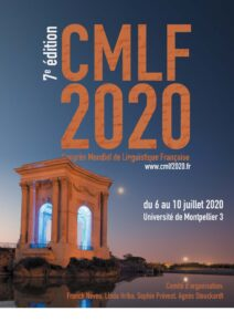 CMLF 2020 : Congrès Mondial de Linguistique Française @ PraxilingTV